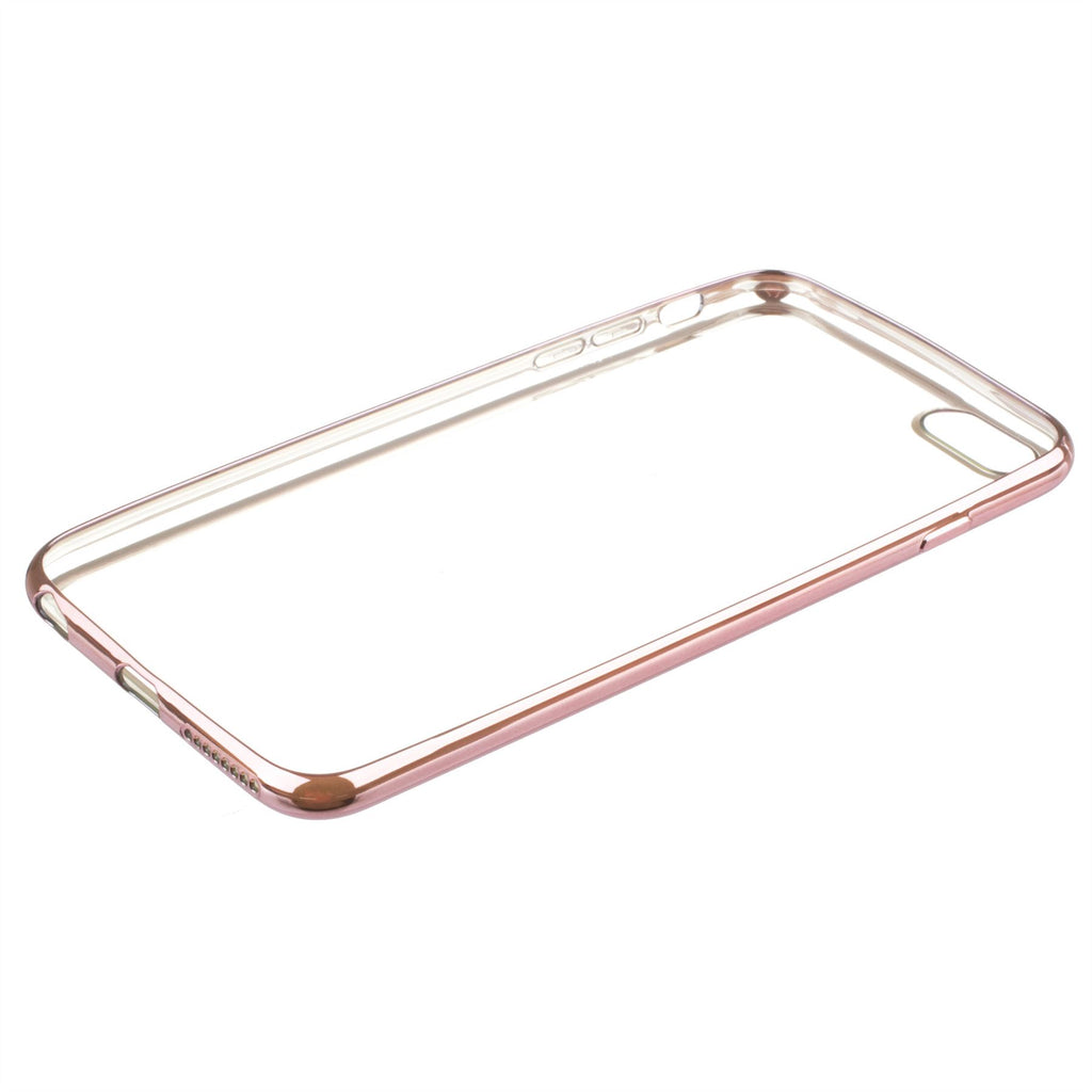 Xcessor Flex Ultra Slim TPU Gel Hybrid Case for Apple iPhone 6 and 6S With Colorful Edges. Clear / Light Pink