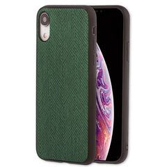 Lilware Canvas Z Rubberized Texture Plastic Phone Case for Apple iPhone XR. Green