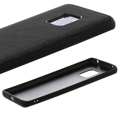 Lilware Canvas Z Rubberized Texture Plastic Phone Case Compatible with Huawei Mate 20 Pro. Black