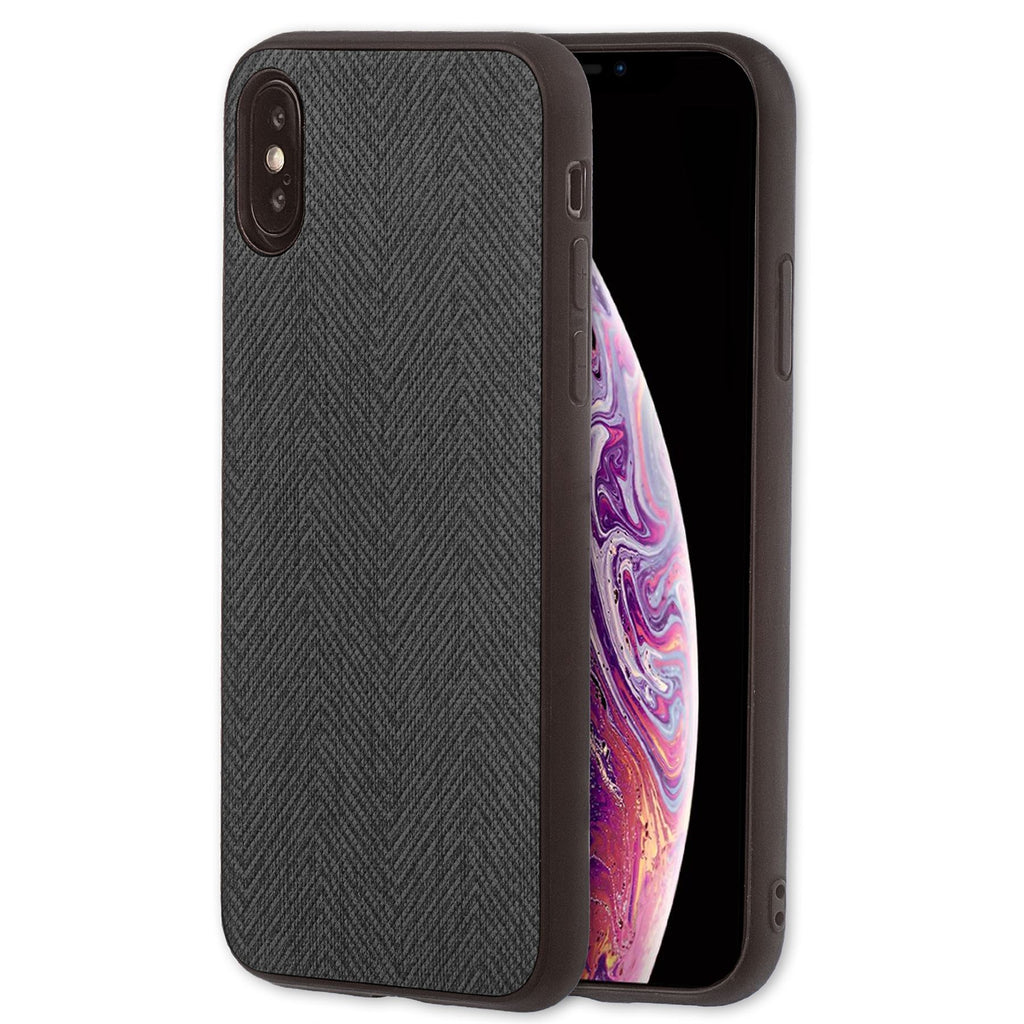 Lilware Canvas Z Rubberized Texture Plastic Phone Case for Apple iPhone XS Max. Black