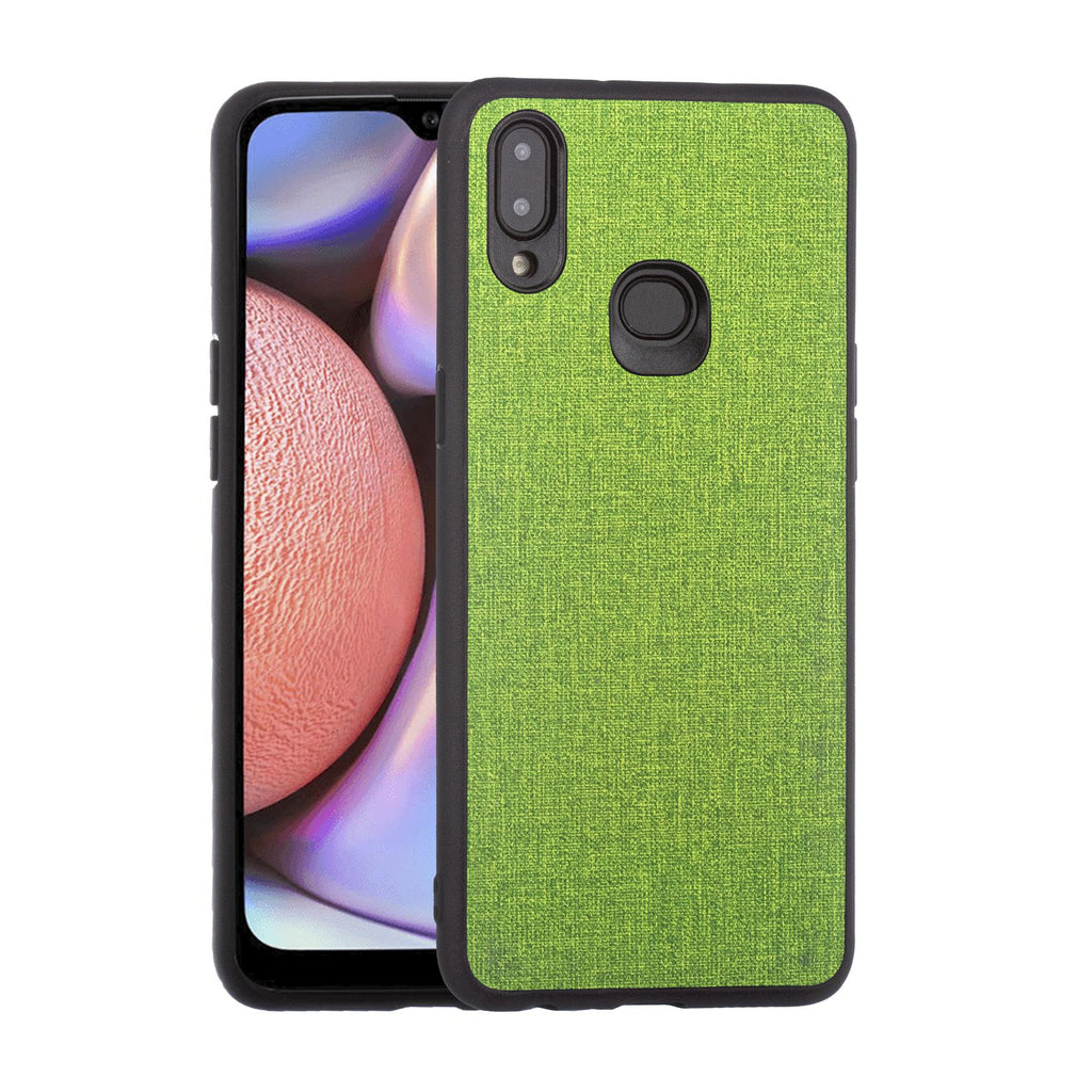 Lilware Canvas Rubberized Texture Plastic Phone Case for Samsung Galaxy A10S. Green
