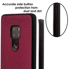 Lilware Canvas Rubberized Texture Plastic Phone Case Compatible with Huawei Mate 20. Red