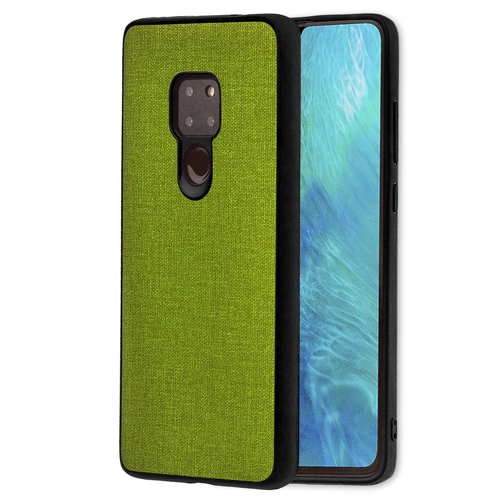 Lilware Canvas Rubberized Texture Plastic Phone Case Compatible with Huawei Mate 20. Green