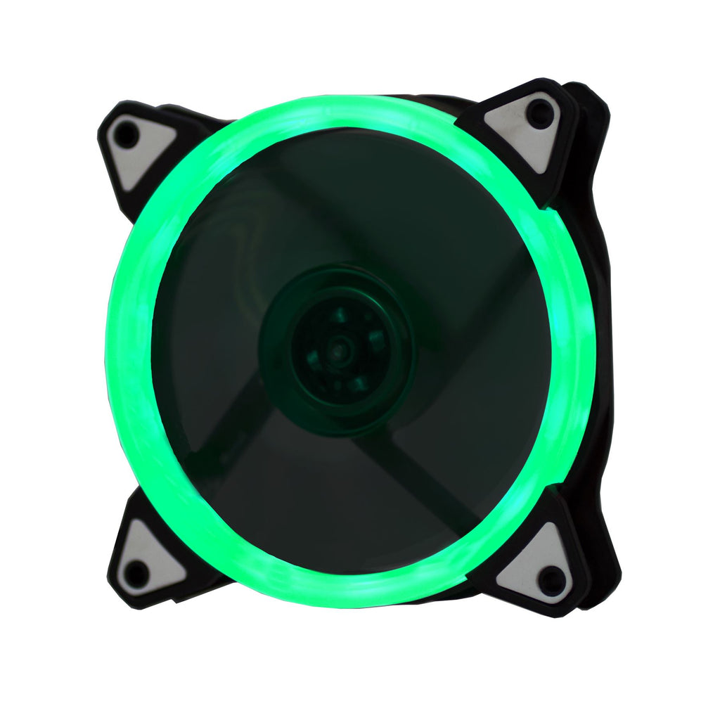 Lilware BoostPro 120mm Air Flow Balance Single Color LED Quiet High Performance Case Fan. Green
