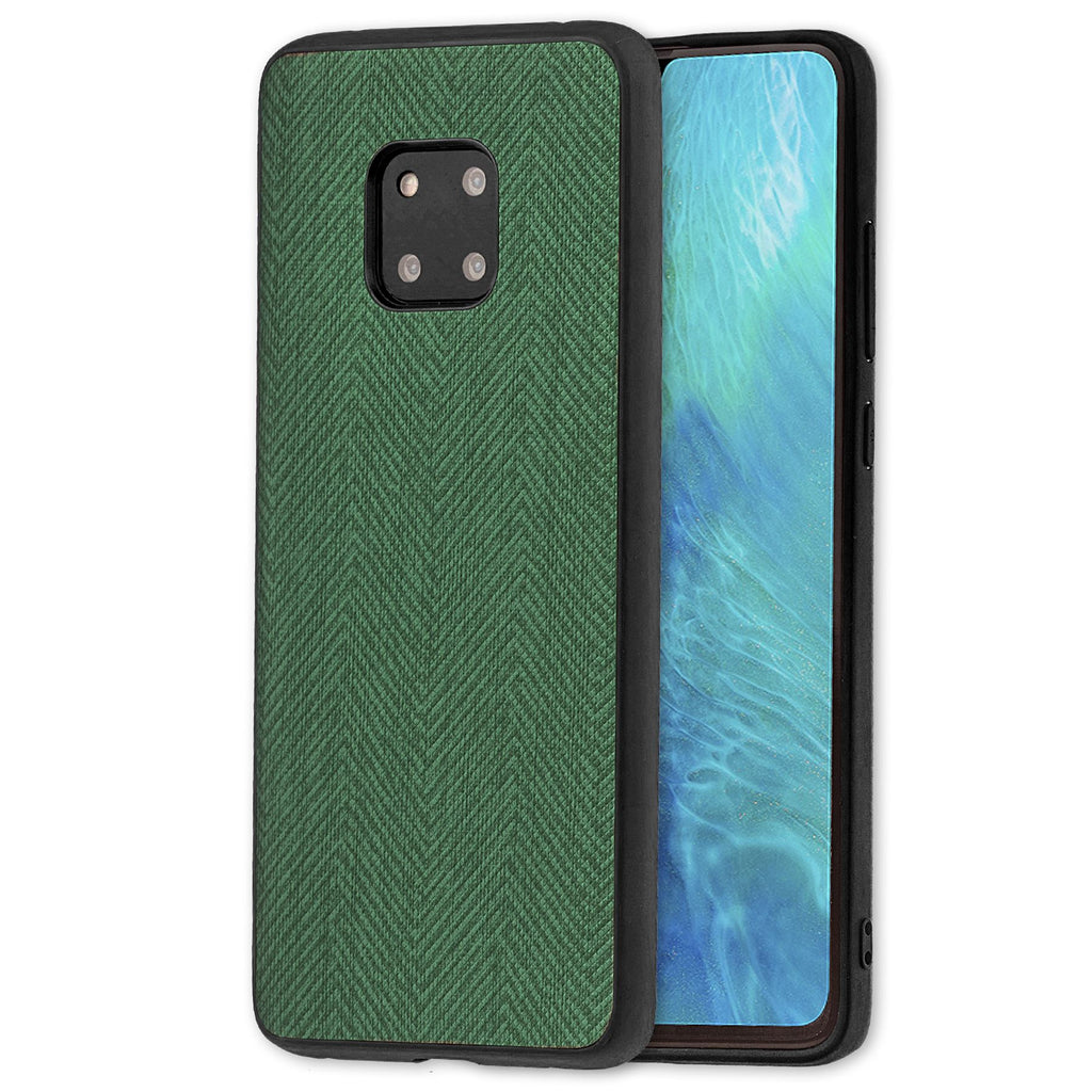 Lilware Canvas Z Rubberized Texture Plastic Phone Case Compatible with Huawei Mate 20 Pro. Green