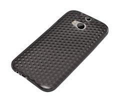 Xcessor Diamond - Flexible TPU Gel Case For HTC One M8 (New M8 Model). Grey / Transparent