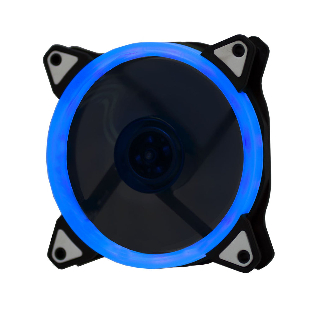 Lilware BoostPro 120mm Air Flow Balance Single Color LED Quiet High Performance Case Fan. Blue