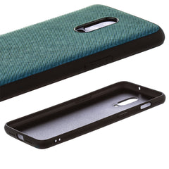 Lilware Canvas Z Rubberized Texture Plastic Phone Case for OnePlus 6T. Blue