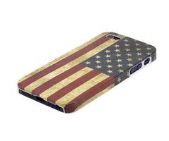 Xcessor Vintage Looking Flag of United States of America Case for Apple iPhone 5 and 5S. Thin and Light Design. USA Flag