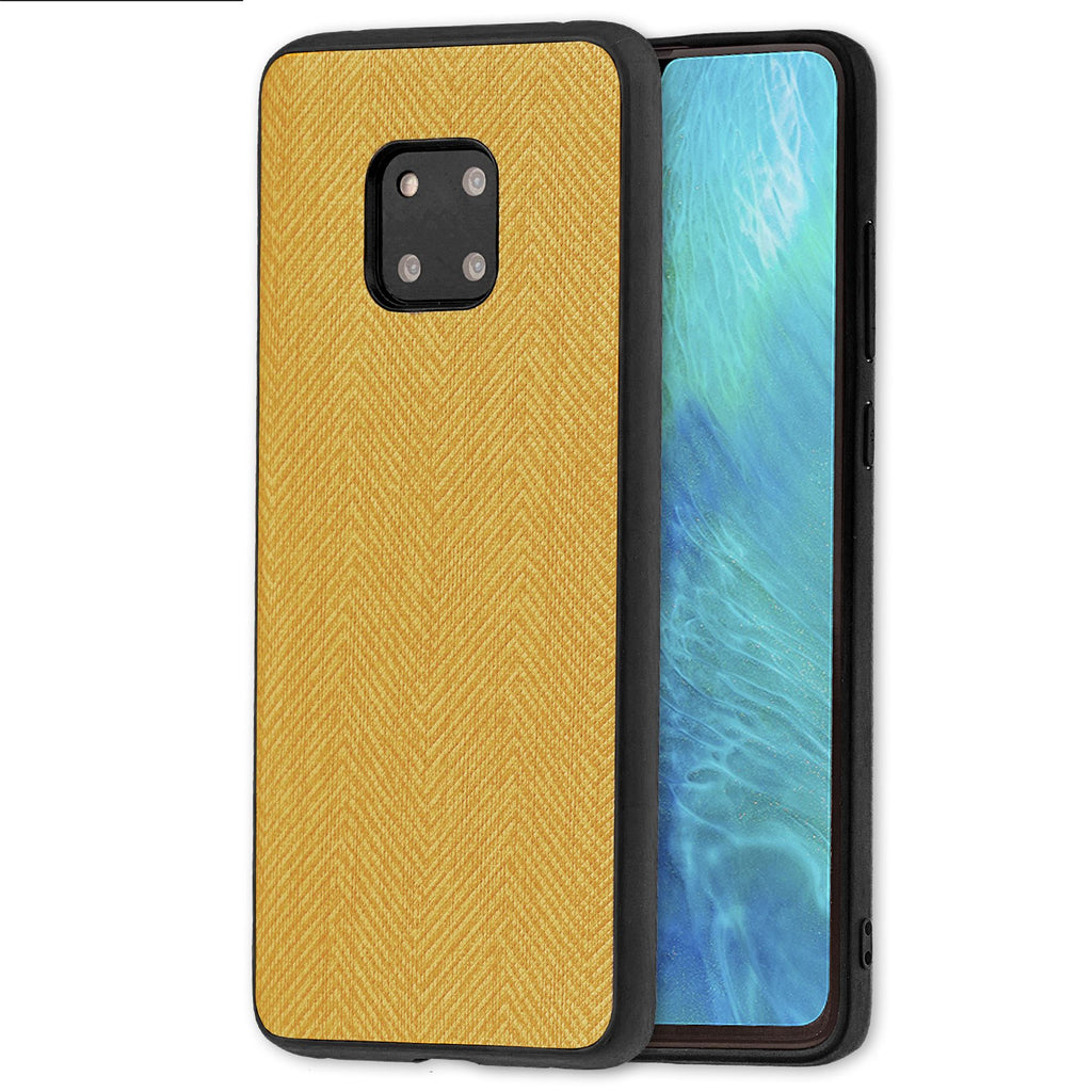 Lilware Canvas Z Rubberized Texture Plastic Phone Case Compatible with Huawei Mate 20 Pro. Yellow