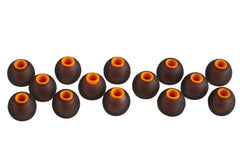 Xcessor 7 Pairs (14 Pieces) of Silicone Replacement In Ear Earphone Earbuds - Replacement Ear Tips for Popular In-Ear Headphones. Bicolor - Black / Orange