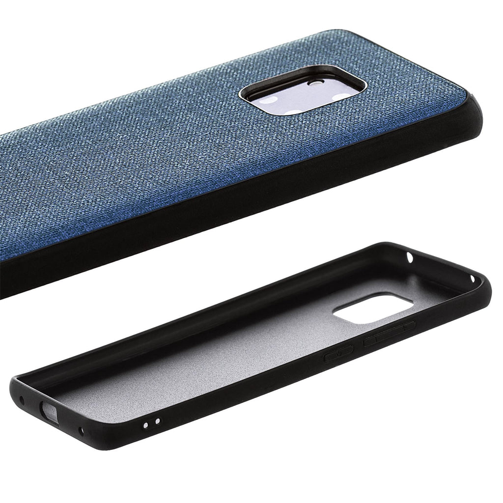 Lilware Canvas Rubberized Texture Plastic Phone Case Compatible with Huawei Mate 20 Pro. Dark Blue