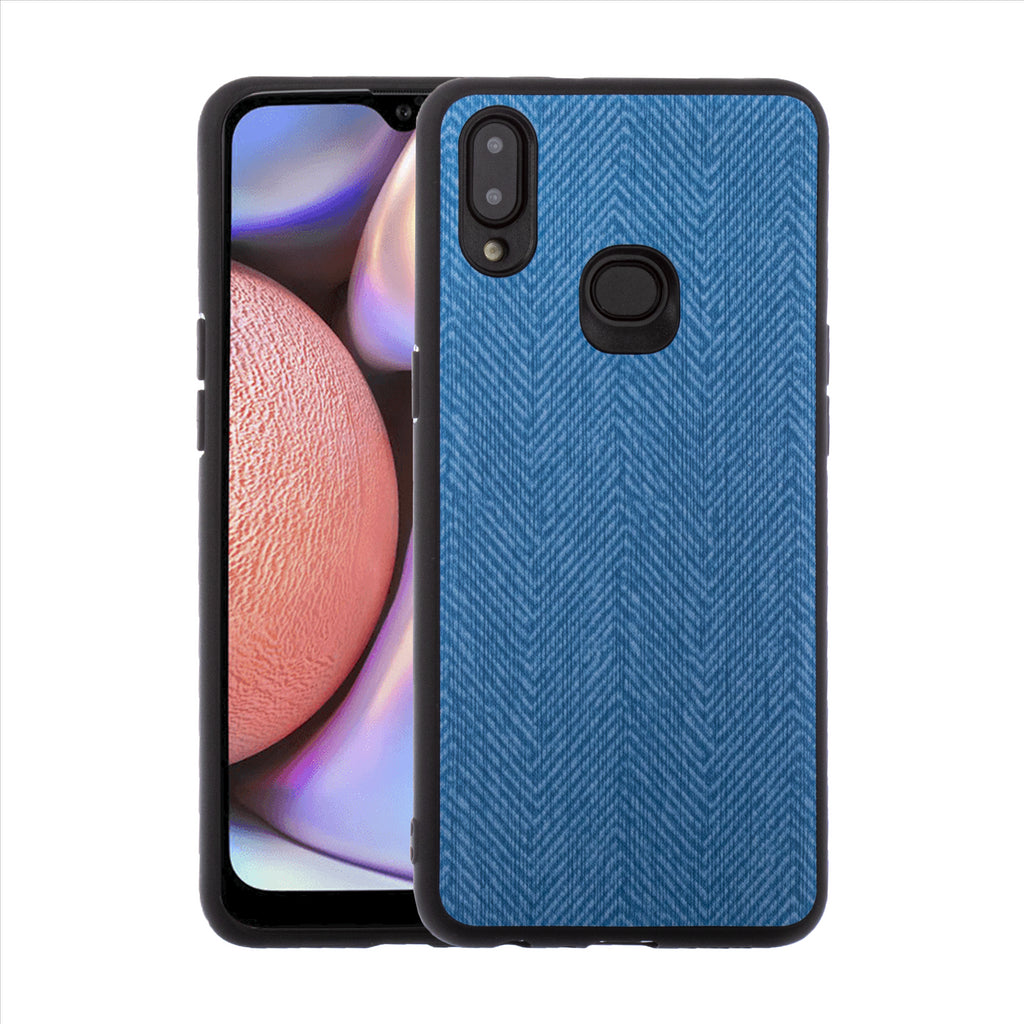 Lilware Canvas Z Rubberized Texture Plastic Phone Case for Samsung Galaxy A10S. Blue