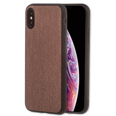 Lilware Canvas Z Rubberized Texture Plastic Phone Case for Apple iPhone XS. Brown