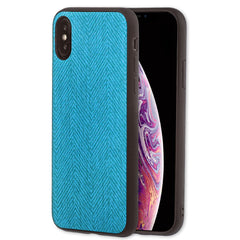 Lilware Canvas Z Rubberized Texture Plastic Phone Case for Apple iPhone XS Max. Blue