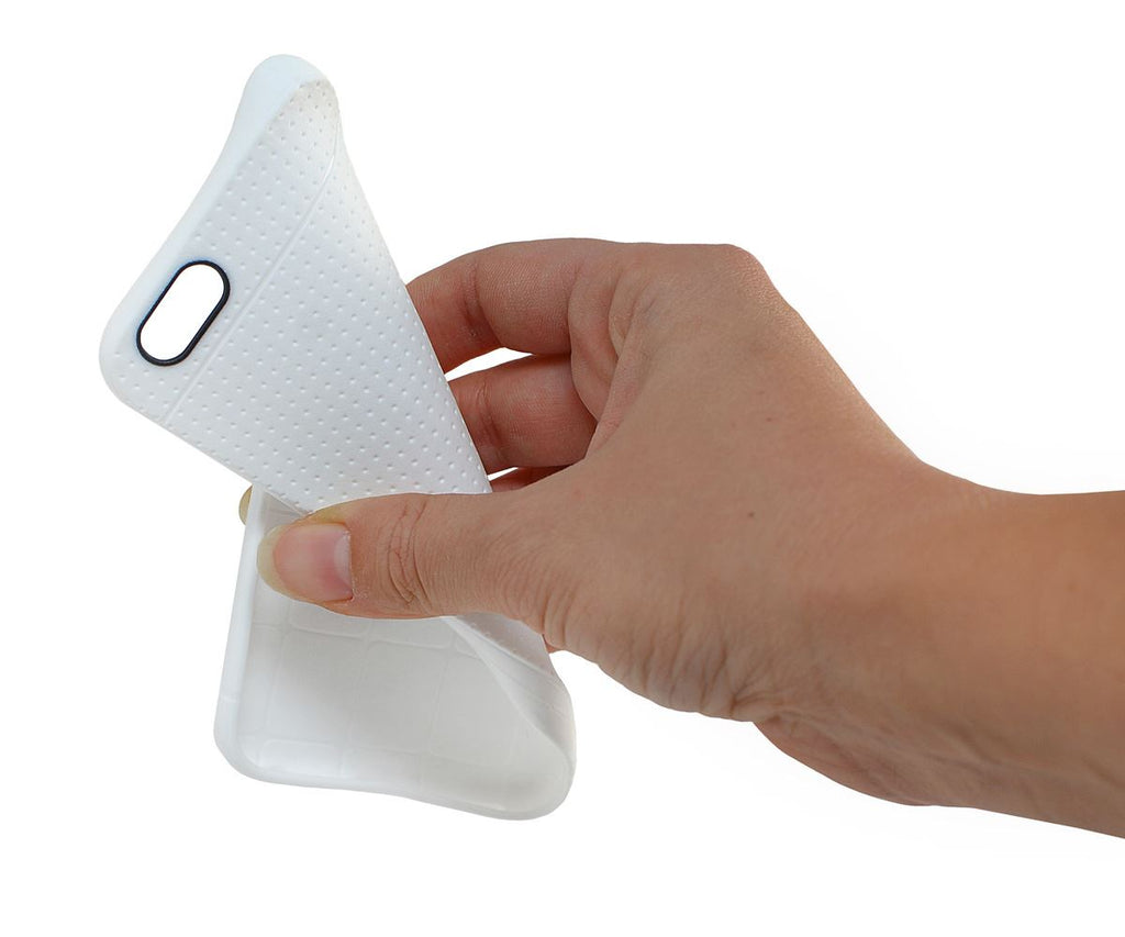 Lilware Dots TPU Gel Case For Apple iPhone 6 Plus. Rugged and Flexible Design. White