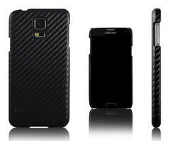 Xcessor Carbon Fibre Effect Hard Plastic Case for Samsung Galaxy S5 i9600. (Compatible with All Samsung Galaxy S5 Models). Black