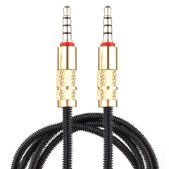 Lilware Metal Braided Audio 3.5mm Cable with Metal Plated Jack - 3.5mm to 3.5 mm Audio AUX Cord - Black