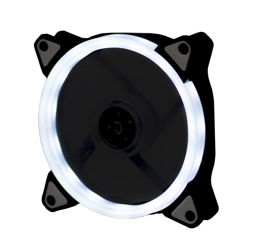 Lilware BoostPro 120mm Air Flow Balance Single Color LED Quiet High Performance Case Fan. White