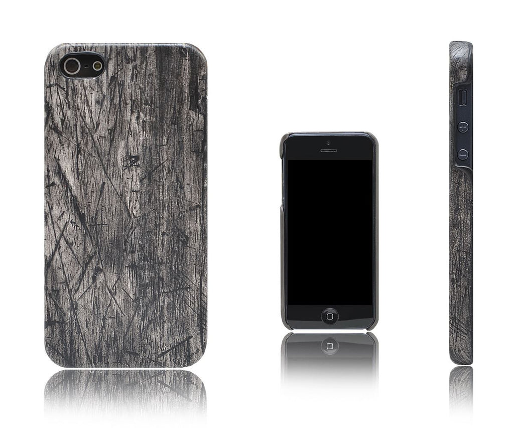 Xcessor Wood Texture Hard Plastic Case for Apple iPhone 5 and 5S. Black / Oak