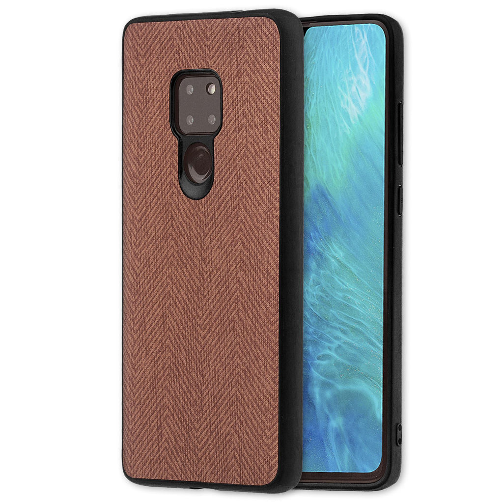 Lilware Canvas Z Rubberized Texture Plastic Phone Case Compatible with Huawei Mate 20. Brown