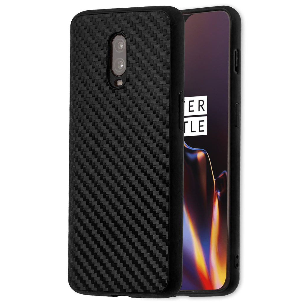 Lilware Carbon Texture Plastic Phone Case for OnePlus 6T. Black