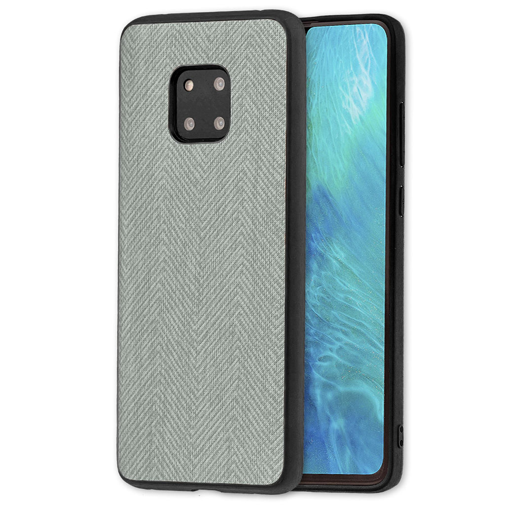 Lilware Canvas Z Rubberized Texture Plastic Phone Case Compatible with Huawei Mate 20 Pro. Grey
