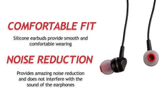 Xcessor 7 Pairs (14 Pieces) of Silicone Replacement In Ear Earphone Earbuds - Replacement Ear Tips for Popular In-Ear Headphones. Bicolor - Transparent / Red