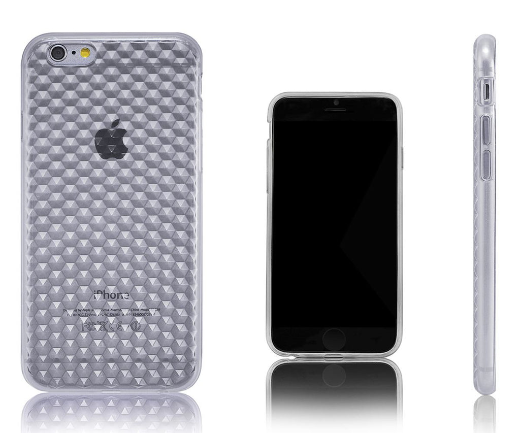 Xcessor Diamond - Flexible TPU Gel Case For Apple iPhone 6. Transparent