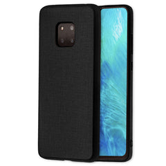 Lilware Canvas Rubberized Texture Plastic Phone Case Compatible with Huawei Mate 20 Pro. Black