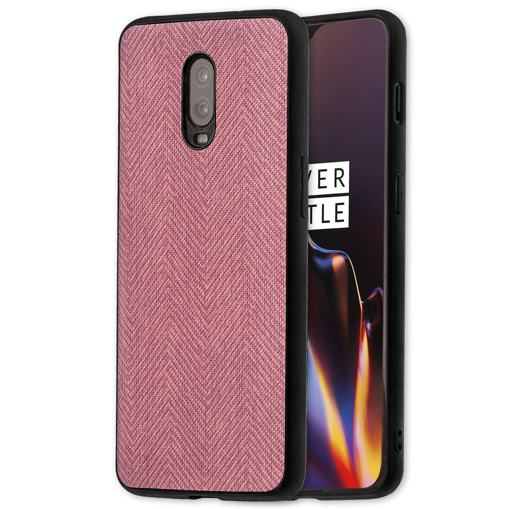 Lilware Canvas Z Rubberized Texture Plastic Phone Case for OnePlus 6T. Pink