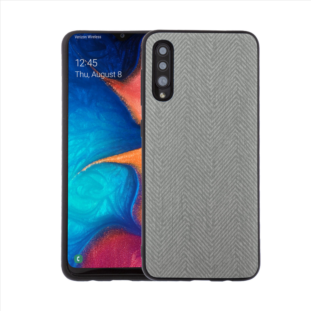 Lilware Canvas Z Rubberized Texture Plastic Phone Case for Samsung Galaxy A50/A50S. Dark Grey