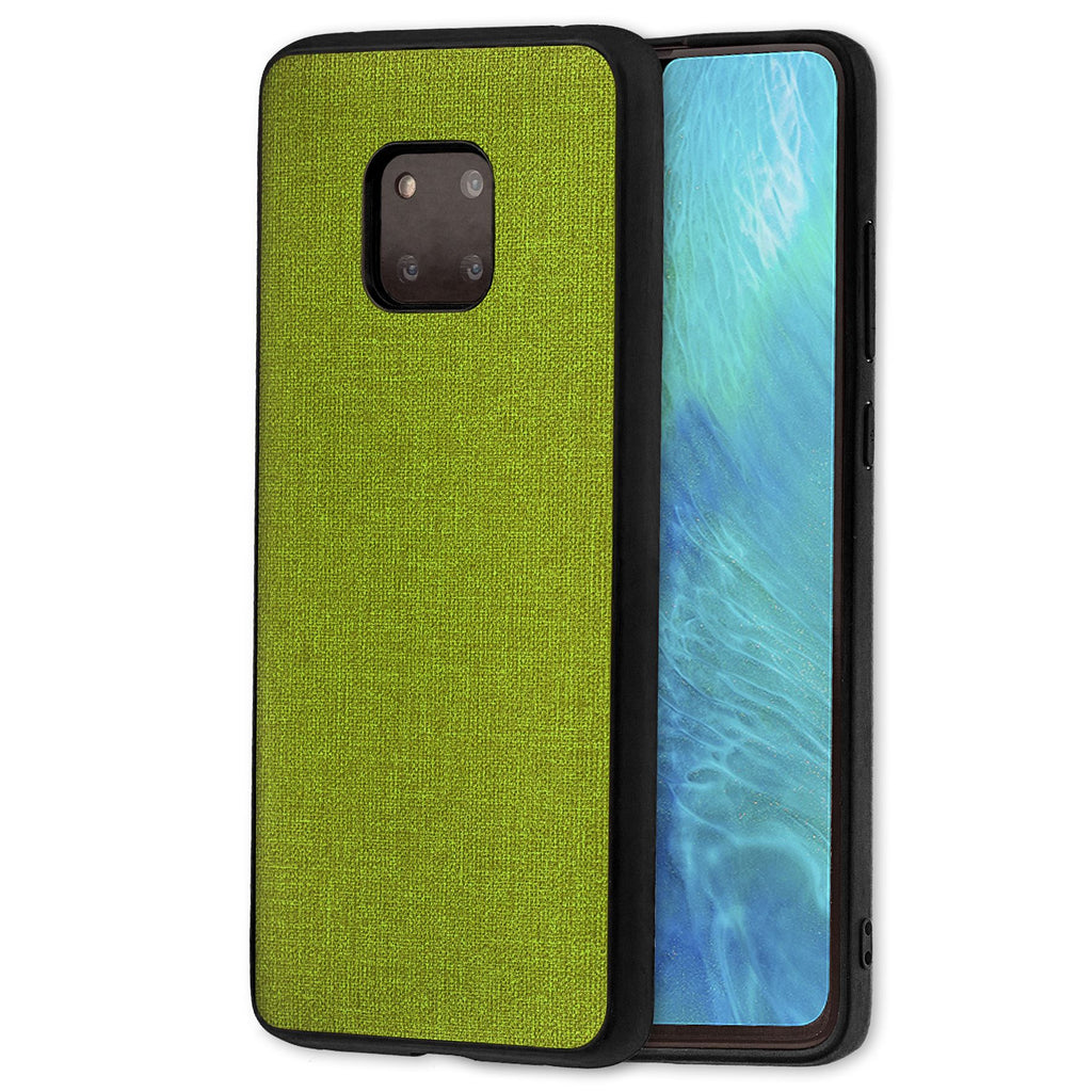 Lilware Canvas Rubberized Texture Plastic Phone Case Compatible with Huawei Mate 20 Pro. Green