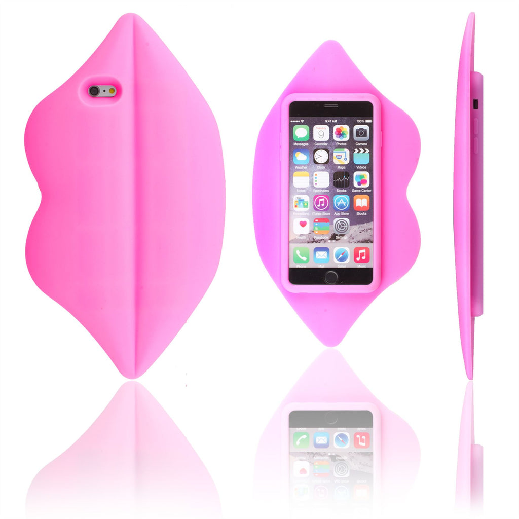 Xcessor Lips Silicone Case for Apple iPhone 6 Plus and 6S Plus. Hot Pi