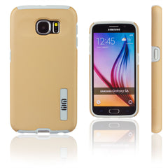 Lilware Smooth Armor Hard Plastic Case for Samsung Galaxy S6 SM-G920. Rugged Dual Layer Protective Cover. Black / Golden Color