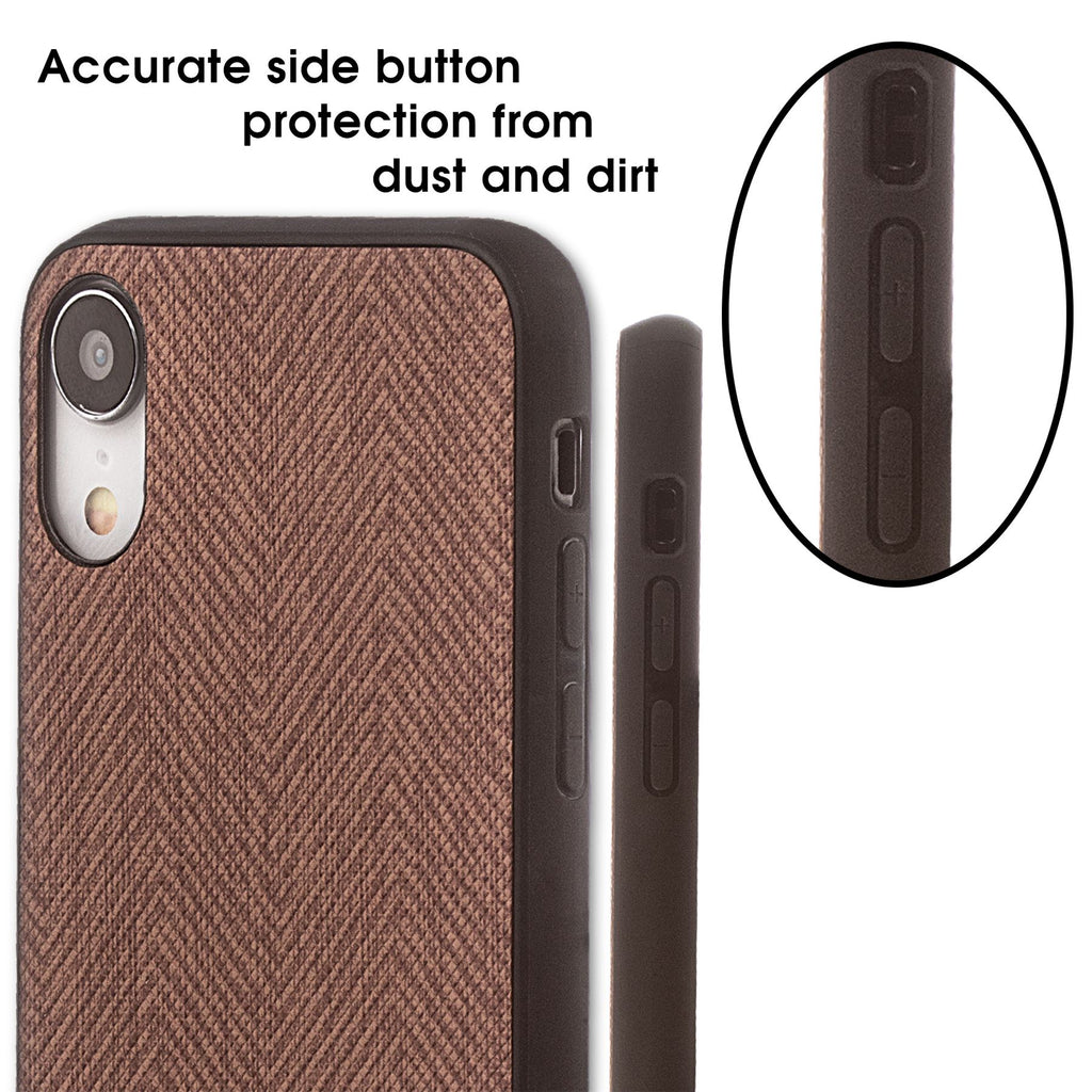 Lilware Canvas Z Rubberized Texture Plastic Phone Case for Apple iPhone XR. Brown