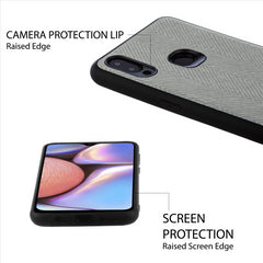 Lilware Canvas Z Rubberized Texture Plastic Phone Case for Samsung Galaxy A10S. Dark Grey