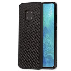 Lilware Carbon Texture Plastic Phone Case Compatible with Huawei Mate 20 Pro. Black