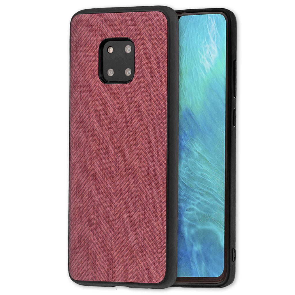 Lilware Canvas Z Rubberized Texture Plastic Phone Case Compatible with Huawei Mate 20 Pro. Dark Pink