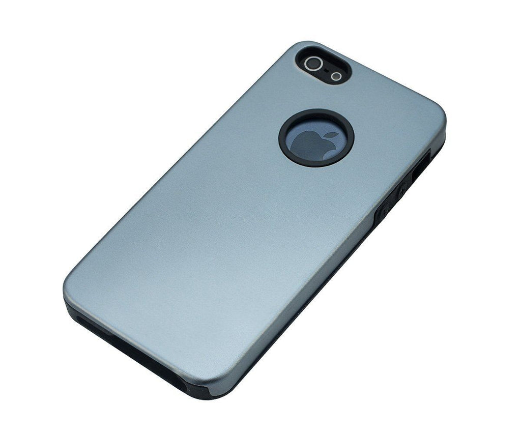 Xcessor Force Field Metallic Hard Case for Apple iPhone 5/5S - Grey/Blue