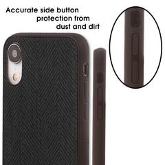 Lilware Canvas Z Rubberized Texture Plastic Phone Case for Apple iPhone XR. Black
