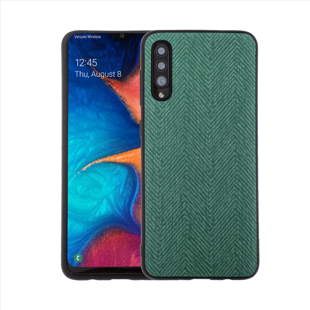 Lilware Canvas Z Rubberized Texture Plastic Phone Case for Samsung Galaxy A50/A50S. Green