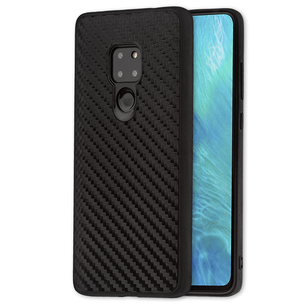 Lilware Carbon Texture Plastic Phone Case Compatible with Huawei Mate 20. Black
