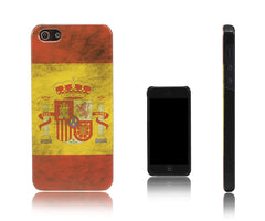 Xcessor Vintage Looking Spanish Flag Case for iPhone 5 and 5S. Thin and Light Design. Spain