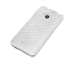 Xcessor Diamond - Flexible TPU Gel Case For HTC One (M7). Transparent