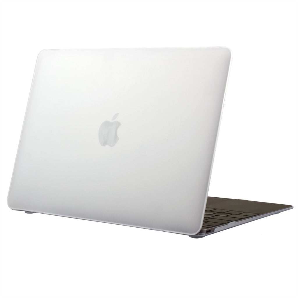 "Lilware Smooth Touch Slim Matte Hard Plastic Case for 12"" inch MacBook with Retina Display (Release 2015). Semi-transparent"