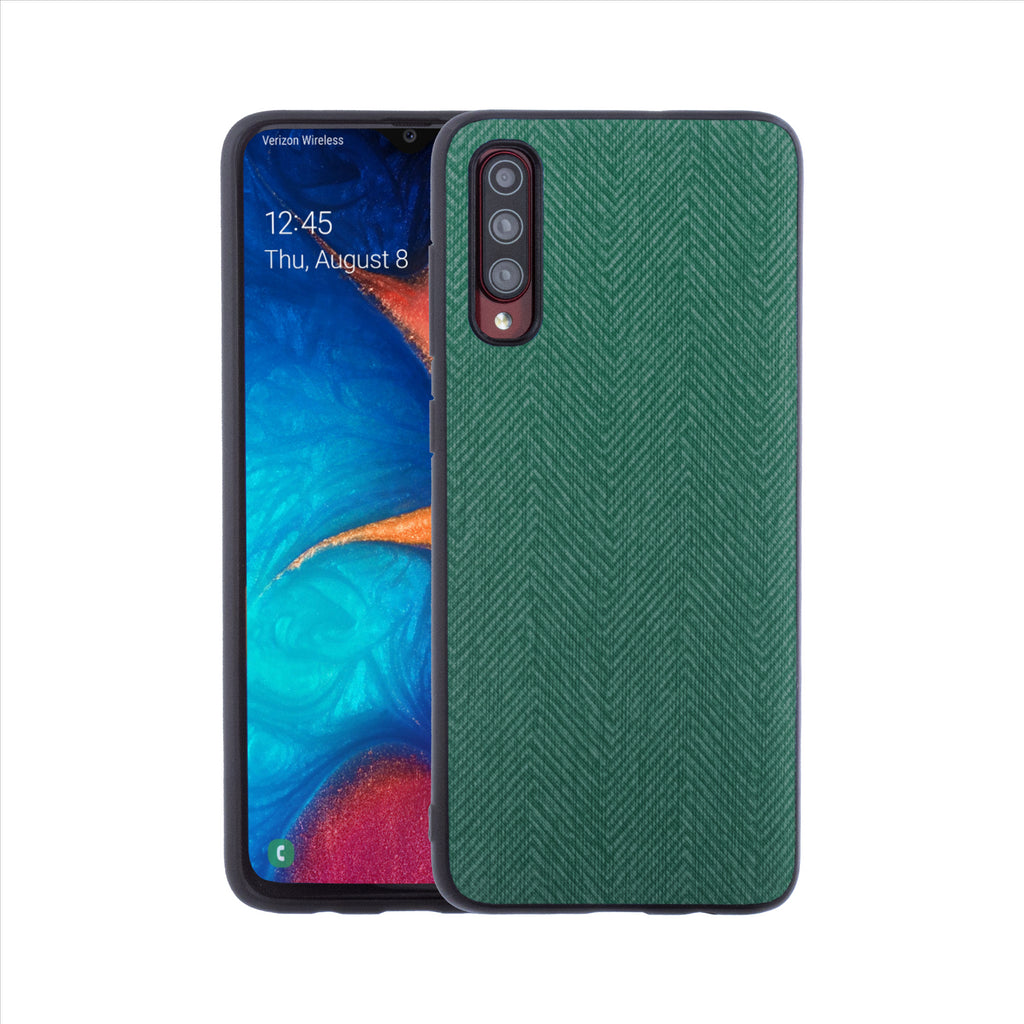 Lilware Canvas Z Rubberized Texture Plastic Phone Case for Samsung Galaxy A70/A70S. Green