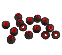 Xcessor 7 Pairs (14 Pieces) of Silicone Replacement In Ear Earphone Earbuds - Replacement Ear Tips for Popular In-Ear Headphones. Bicolor - Black / Red