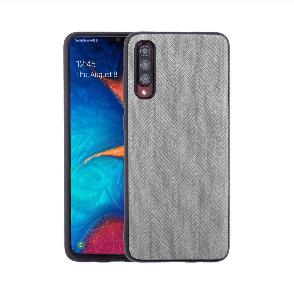 Lilware Canvas Z Rubberized Texture Plastic Phone Case for Samsung Galaxy A70/A70S. Dark Grey