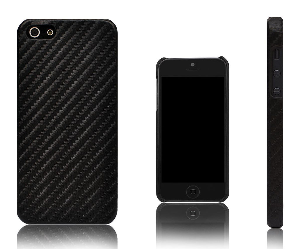 Xcessor Carbon Fibre Case for Apple iPhone 5 and 5S. Black